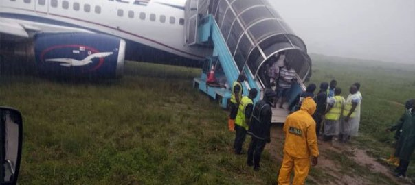 Air Peace aircraft crash landing at the Port Harcourt International Airport