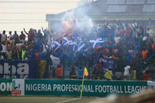 Enyimba fans celebrate