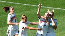 Germany's Alexandra Popp scores against Nigeria 2
