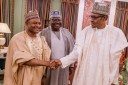 President Muhammadu Buhari Thursday received Kaduna state governor, Nasir El-Rufai and Senators Danjuma Goje, Ahmed Lawan and Uba Sani. The President asked Mr Goje to shelve his ambition for Senate President and instead endorse Mr Lawan