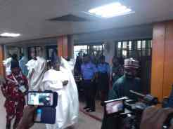 In the entourage of Mr Lawan is former governor of Ogun State, Ibikunke Amosun