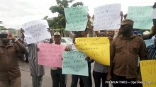 Workers of NMEC protesting