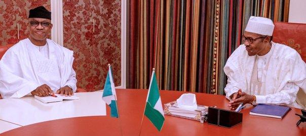 President Muhammadu Buhari with Ogun State Governor, Dapo Abiodun