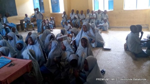 Most pupils sit on bare floor to learn because of the lack of chairs and desks. (Nasarawa)