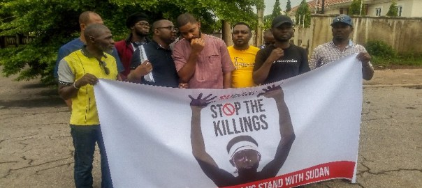 Nigerian group protests killings in Sudan