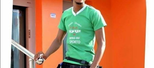 Final year student of Ekiti State University, Akindeko Oluwafemi. Victim of attempted suicide.