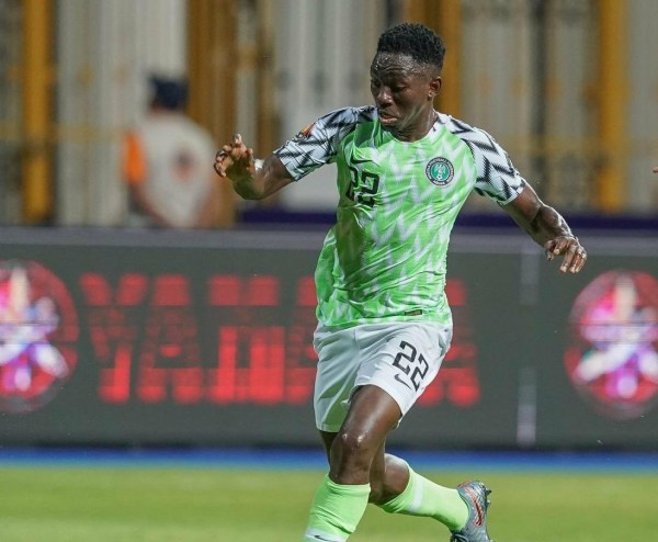 Kenneth Omeruo scores goal for super eagles