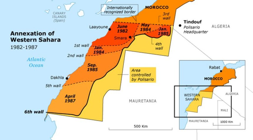 Map of Western Sahara [Photo: Sahara Overland]