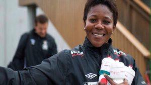 Super Falcons Assistant Coach Maureen Madu. [PHOTO CREDIT: The Nation]