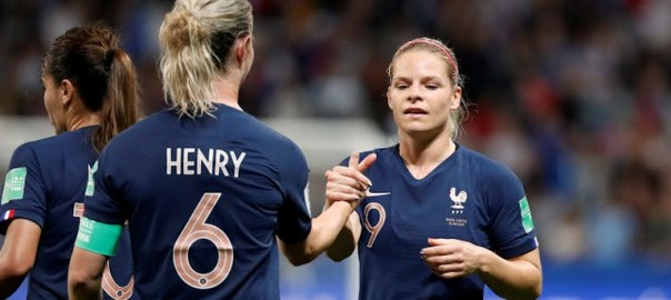 France Women Football Team celebrating after their win against Norway (Photo Credit: Reuters on Google)