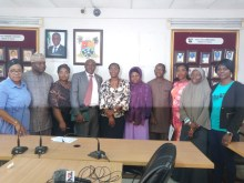 Officials of PACFaH@Scale and the Lagos State ministry of health at the meeting, Photo credit: Olamide Fadipe