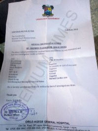 Medical Report - Orile-Agege