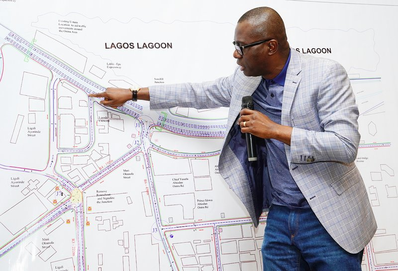 Lagos State Governor, Mr. Babajide Sanwo-Olu, making a point during a Stakeholders meeting on proposed regeneration of the Lekki-Oniru axis at Four Points, Sheraton, Oniru, Victoria Island, on Wednesday, July 10, 2019.