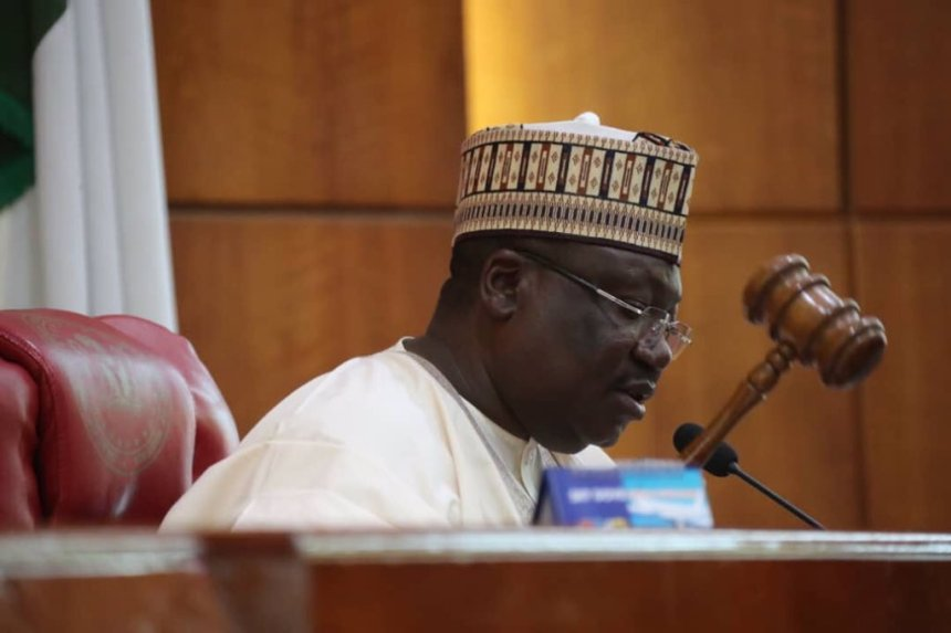 Senate President, Ahmed Lawan. [PHOTO CREDIT: Official Twitter handle of the Senate President]