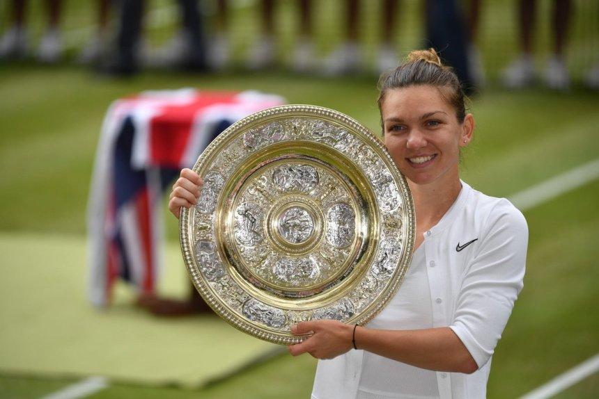 Simona Halep (Photo Credit: Wimbledon on Twitter)