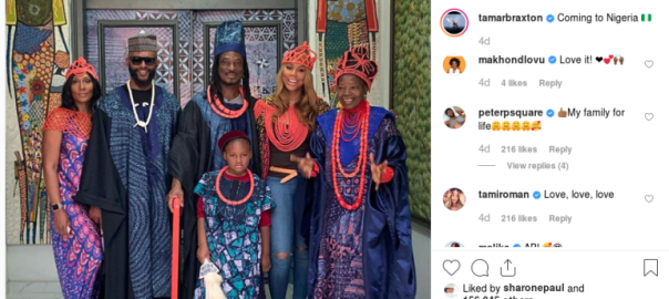 Tamar Braxton catches the Nigerian vibe on her first Africa visit with boyfriend (screenshot).