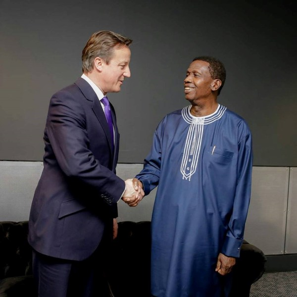 WITH FORMER BRITISH PRIME MINISTER IN LONDON