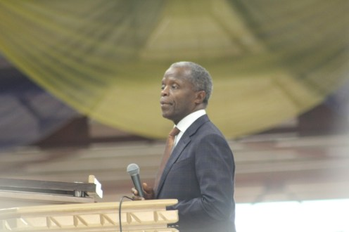 Vice President Yemi Osinbajo at the Holy Ghost Congress (Photo Credit: Segun Komolafe)