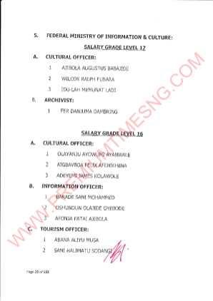 Nigeria promotes 1780 senior civil servants - FULL LIST