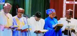 Buhari swears in ministers (LIVE UPDATES)