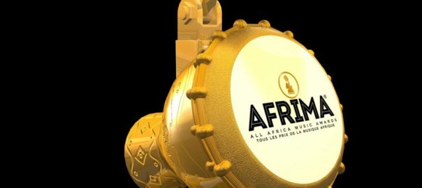 An Afrima gold plated talking drum