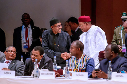 President Buhari participates at the Plenary Session 3 and delivers Statement at the 7th Tokyo International Conference on African Development in Yokohama Japan on 29th Aug 2019. [PHOTO CREDIT: Facebook page of Femi Adesina]