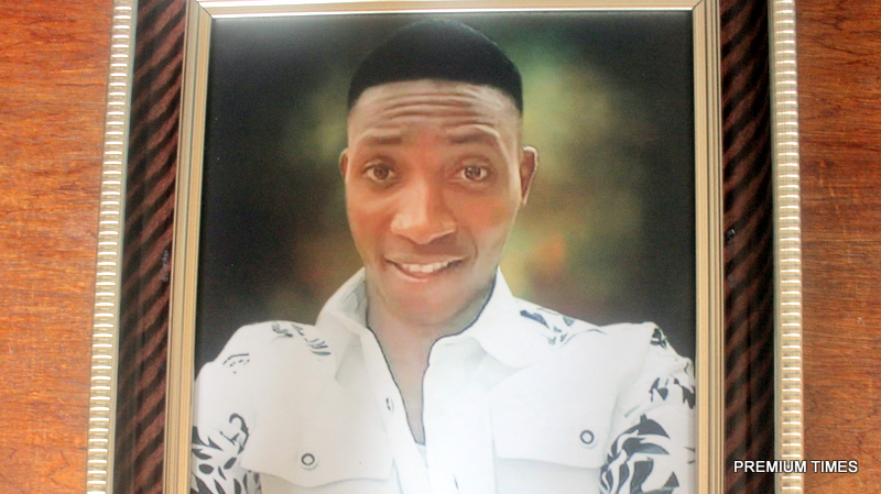 Christian Onuoha, 22, was killed by a trigger-happy police man few meters away from his family house. Photo by Patrick Egwu.
