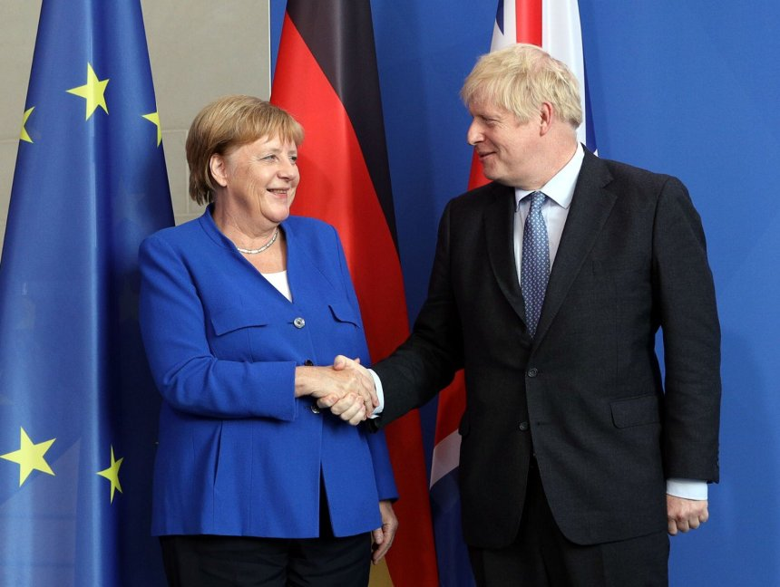 BREXIT: German Chancellor Angela Merkel and British Prime Minister Boris Johnson