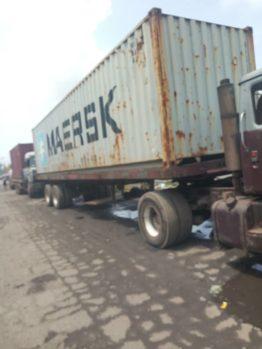 Trucks on Oshodi-Apapa port access road