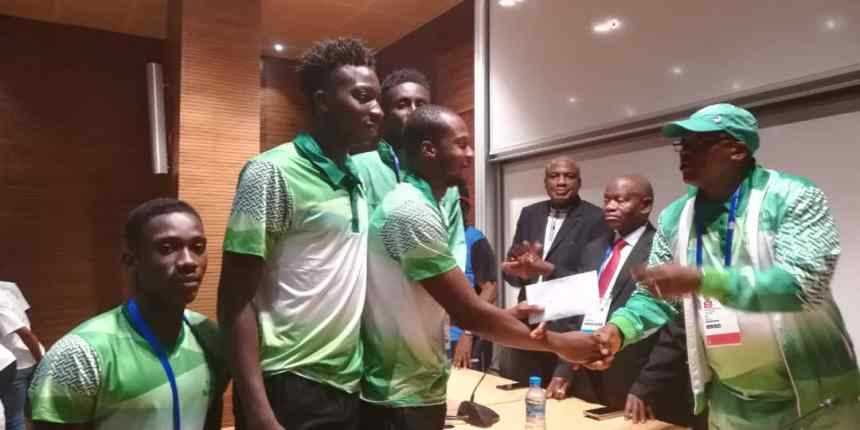 Team Nigeria athletes being rewarded by FG in Morocco