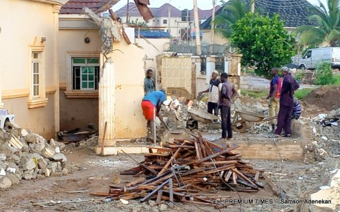 The demolished houses as a result of the flood in Abuja