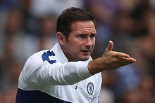 READING, ENGLAND - JULY 28: Head Coach Frank Lampard Jnr shouts from the sidelines during the Pre-Season Friendly match between Reading and Chelsea at Madejski Stadium on July 28, 2019 in Reading, England. (Photo by Christopher Lee/Getty Images)