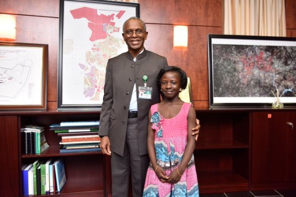 Meet 8 year old Rachael Yusuff, the youngest of the group of filmmakers Photo