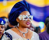 Mrs Obiano donned a N995, 932.50 Gucci glasses to a funeral ceremony in Mbosi, Ihiala on Friday