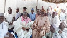 Mourners gathered at the residence of the district head in Katsina.