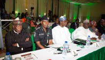 PRESIDENT BUHARI DECLARES OPEN PRESIDENTIAL RETREAT F0R MINISTERS 9. Director General Customs and Excise Col Ahmed Ali, Inspector General of Police, Mohammed Adamu DG NIA, Ahmed Rufai and DG DSS, Alhaji Yusuf Bichi Magaji during the Opening ceremony of the Presidential retreat for Ministers Designate, Presidential Aides and other Top Government Functionaries held at the State House Abuja. PHOTO; SUNDAY AGHAEZE. AUG 19 2019.