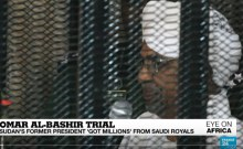 Ousted Sudanese President Omar al-Bashir in court on August 19, 2019. [Photo: Photo: France24/YouTube]