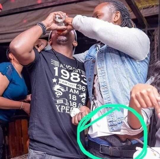 The controversial picture that landed popular Kenyan celebrity , DJ Moh in trouble Photo credit Nairobi Gossip Club