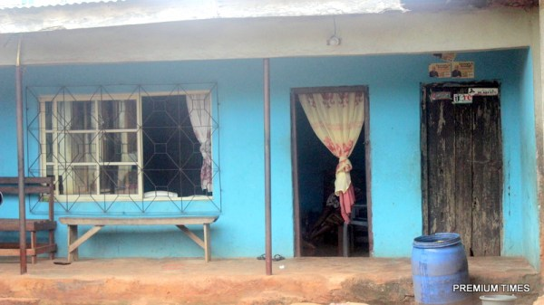 The deceased family home. Photo by Patrick Egwu.
