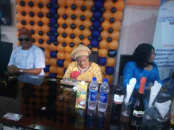 Veteran actress Idowu Philip aka Iya Rainbow speaking at the event in Ibadan on Sunday
