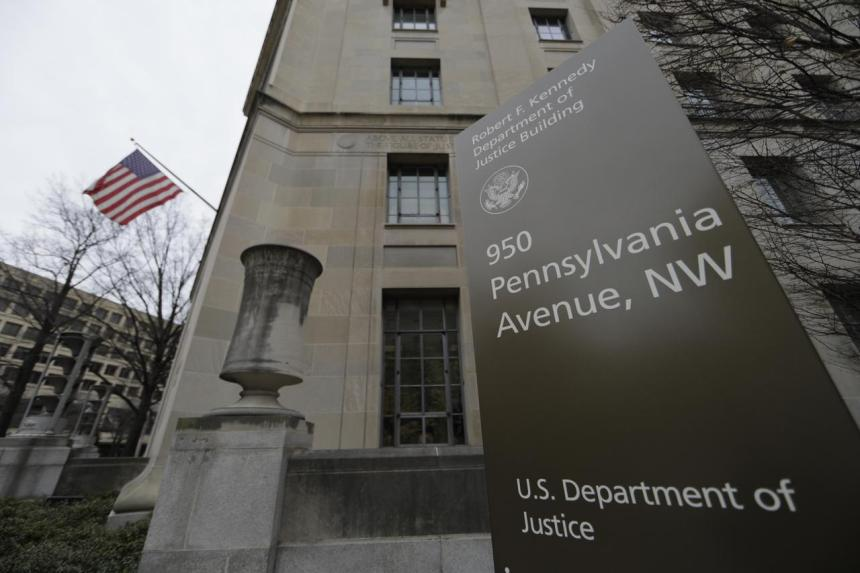 US Department of Justice [Photo: Reuters]