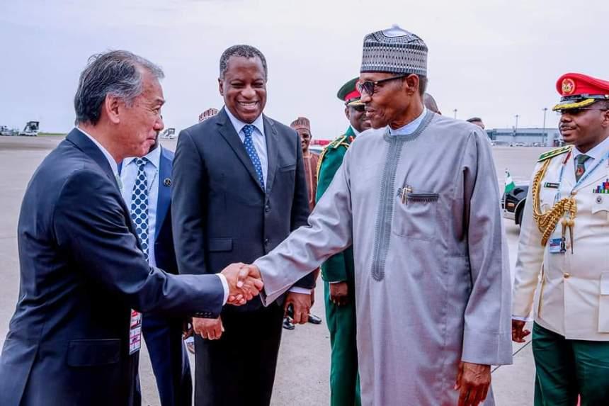 Japanese Prime Minister Abe and President Buhari