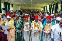 Governor Bello presents staffs of office to 128 Kogi traditional rulers