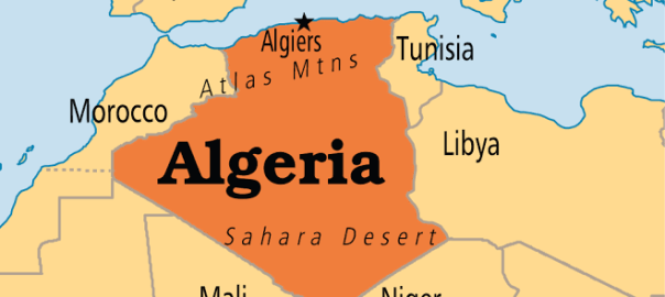 Algeria on map