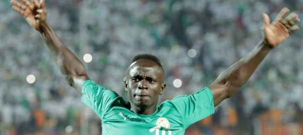 Senegal's Sadio Mane during the 2019 AFCON final soccer match between Algeria and Senegal in Cairo. He also plays for Liverpool. [Photo: EPA-EFE/Khaled Elfiqi]