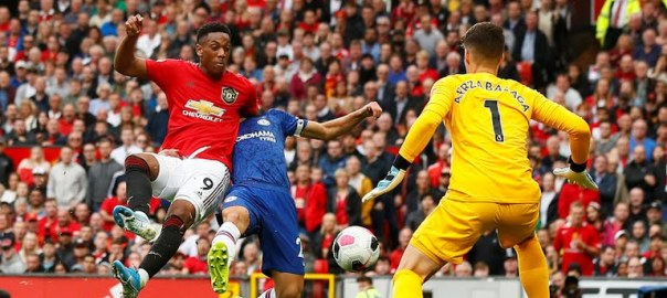 Anthony Martial scoring for Manchester United (Photo Credit: Reuters on Google)