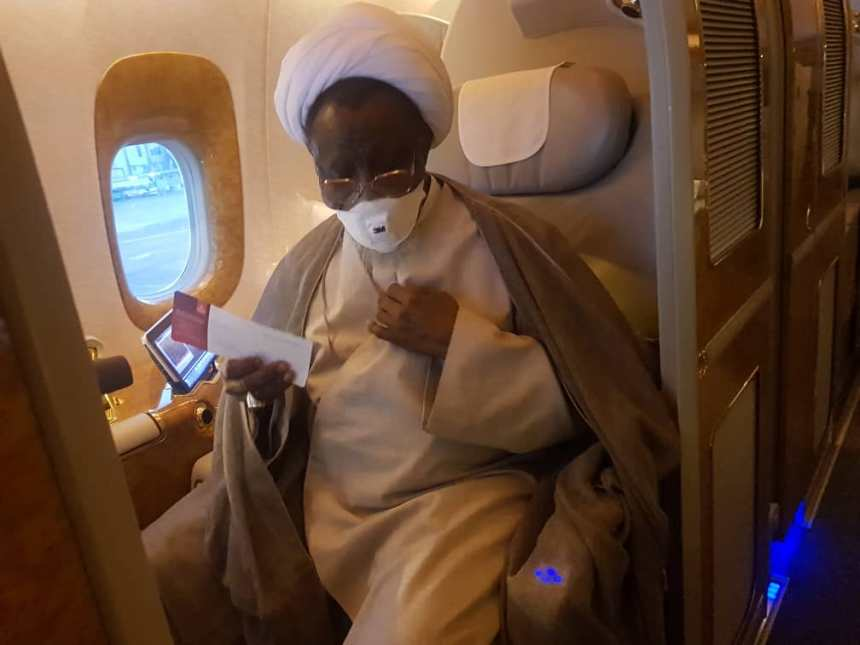 El-Zakzaky in plane to India