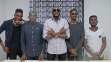 2baba unvieled Tboiz, a 3 member boy band , at an event in Lagos on Wednesday