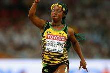 Jamaica's Shelly-Ann Fraser-Pyrce ran a 10.71 seconds. [PHOTO CREDIT: IAAF]