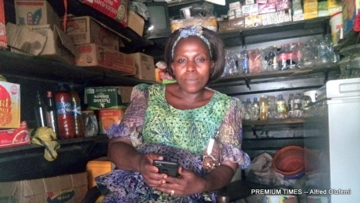 Mrs Chiwendu Obilor in her shop.
